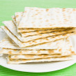 Pile of Jewish Matza bread - Stock Photo