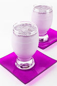 Blackberry milkshake or smoothie — Stock Photo