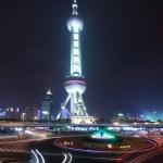 Modern urban city at night — Stock Photo