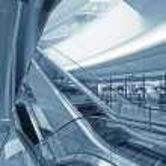 Moving up escalator — Stock Photo #6437897