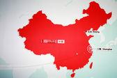 Shanghai en peking op de chinezen kaart — Stockfoto