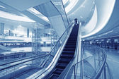 Moving up escalator — Stock Photo