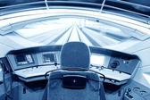 近代的な列車のコックピット — ストック写真