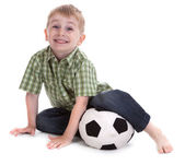 Small boy with football 2 — Stock Photo