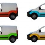 White vans — Stock Photo