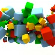 Royalty-Free Stock Photo: Colored cubes