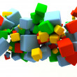 Stock Photo: Colored cubes
