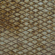 Old metal diamond plate - Foto Stock
