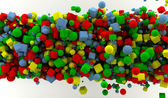Colored cubes and spheres — Stock Photo