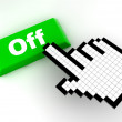 Cursor off — Stock Photo