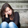 Teenage girl looking thoughtful about troubles — Stock Photo #6206164