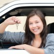 Young woman happy about her new drivers license — Stock Photo #6309855