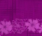 Pozadí abstraktní s květinami — Stock fotografie