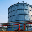Foto Stock: Gas processing in factory