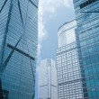 Abstract glass skyscrapers — Stock Photo