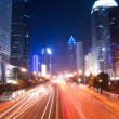 Street in downtown of shenzhen at night — Stock Photo
