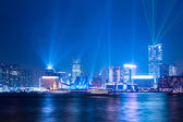 "Interactive lights show ""a symphony of lights"" in Hong Kong — Stock Photo"