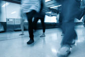 Passageiros no metro canal — Fotografia Stock