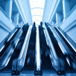 Escalator in modern station building — Stock Photo