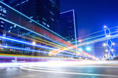 Light trails on the street — Stock Photo