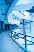 Böjda korridor — Stockfoto
