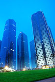 Shanghai lujiazui financial centre at night — Stock Photo