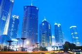 Modern building skyline in shanghai — Stock Photo