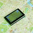 GPS and map — Foto Stock