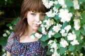 Closeup portrait of a beautiful girl — Stock Photo