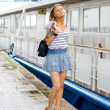 Stock Photo: Travelling girl