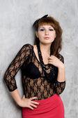 セクシーなゴシック様式女の子のスタジオ ポートレート — ストック写真