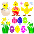 Set of Easter icons. — Stock Vector #5386430