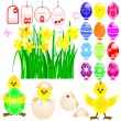 Set of Easter icons. — Stock Vector #5451024