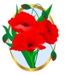Poppies. — Stock Vector