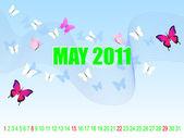 Calendar for May. — Stock Vector