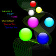 Abstract background with balls. — Imagen vectorial