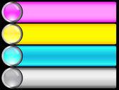 Conjunto de bandeiras. — Vetor de Stock