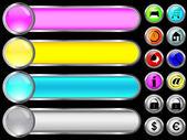 Website buttons en banners. — Stockvector