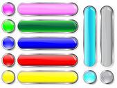 Colección de botones. — Vector de stock