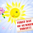 First Day of Summer. — Vector de stock #5865410