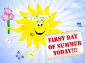 Eerste dag van de zomer. — Stockvector