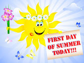 First Day of Summer. — Vector de stock
