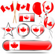 Canada flag emblem. - Stock Vector
