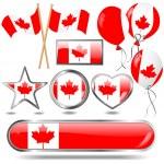 Canada flag emblem. — Stock Vector #5958117