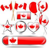 Canada vlag embleem. — Stockvector