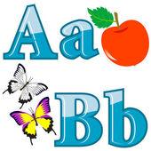 Engelska alfabetet. — Stockvektor