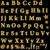 Gouden lettertype. — Stockvector