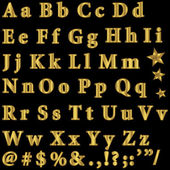 Golden font. — Stock Vector