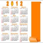 Classic calendar 2012. — Stock Vector
