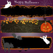 Stock Vector: Grunge Halloween banners.